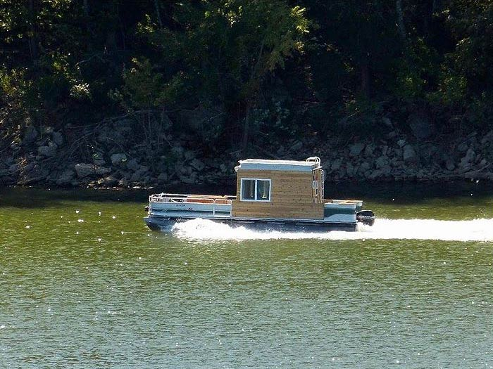 Greenwood's Guide Service custom houseboat